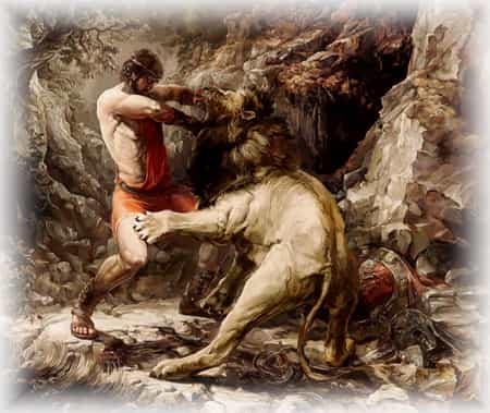 Геракл убивает Немейского льва