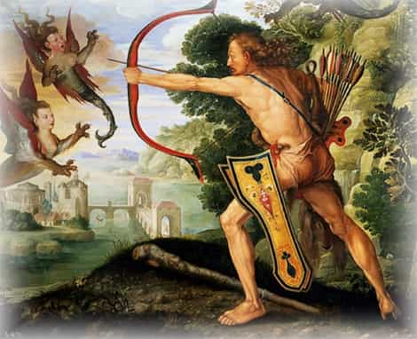 Геракл разгоняет Стимфальских птиц